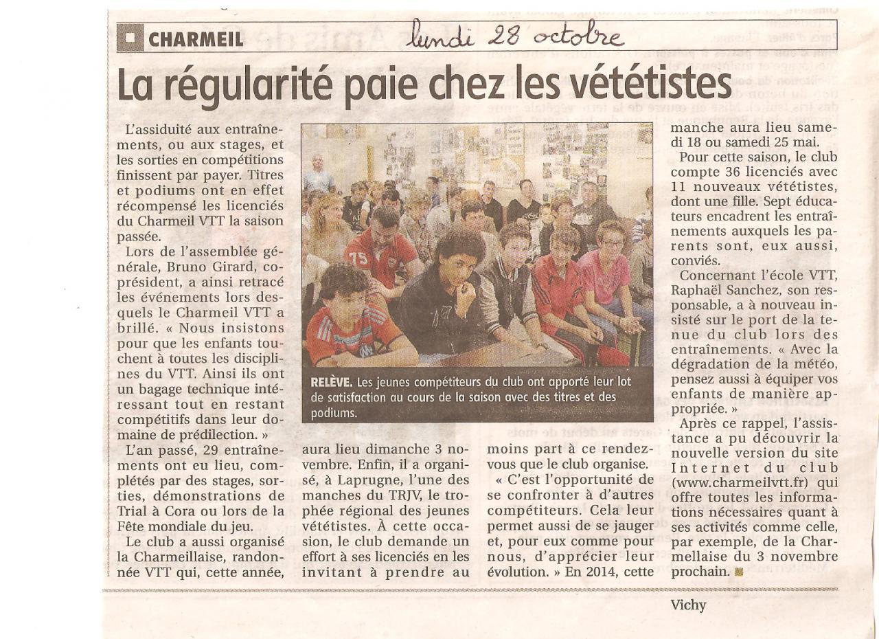 Article presse assemblée générale 2013