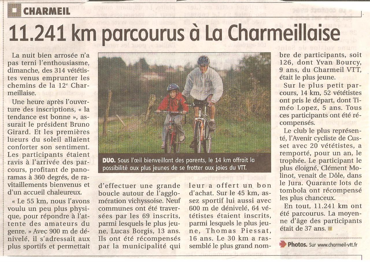 Article presse charmeillaise